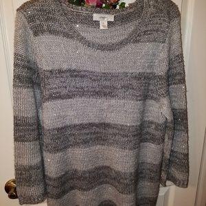 2 tone grey sweater